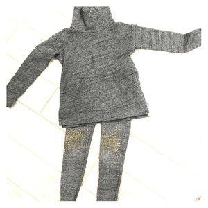 Girls crew cuts sweatshirt with pants